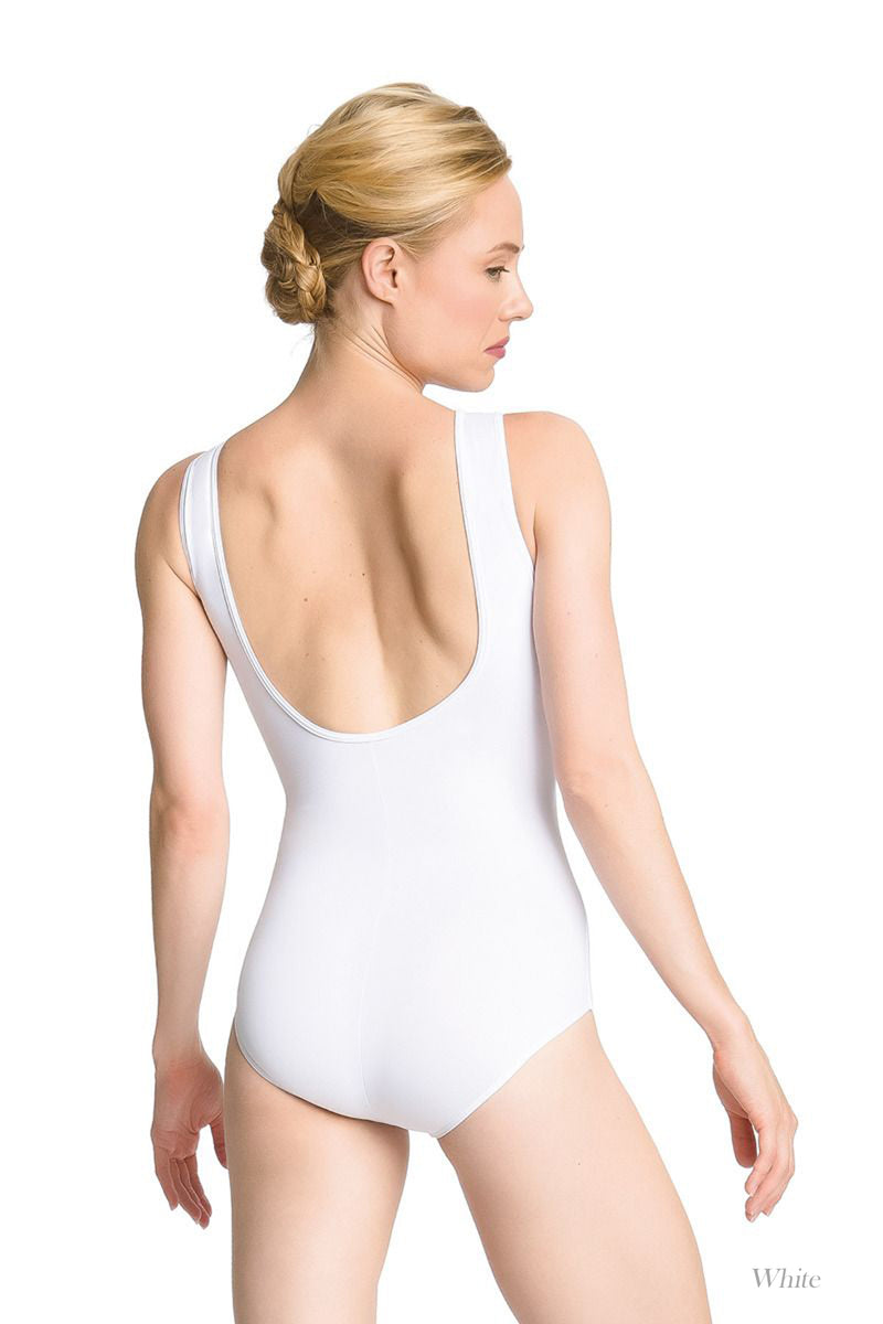 So Danca Adult High Neck Tank Leotard with Fanned Lace and a Low Back (SMxSD) ソダンサ ハイネックタンクレオタード(大人)