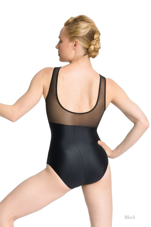 So Danca Adult Tank Leotard with Mesh on Upper Bodice and Back (SMxSD) ソダンサ メッシュタンクレオタード(大人)