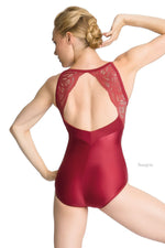 So Danca Adult Camisole Leotard with Lace Overlay on Upper Bodice and Back (SMxSD) ソダンサ レースキャミソールレオタード(大人)