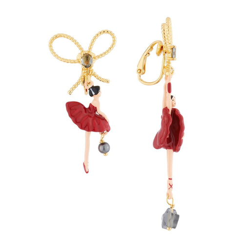 Les Nereides Red Gold Ballerina Clip-on earrings レネレイド レッドバレリーナのイヤリング