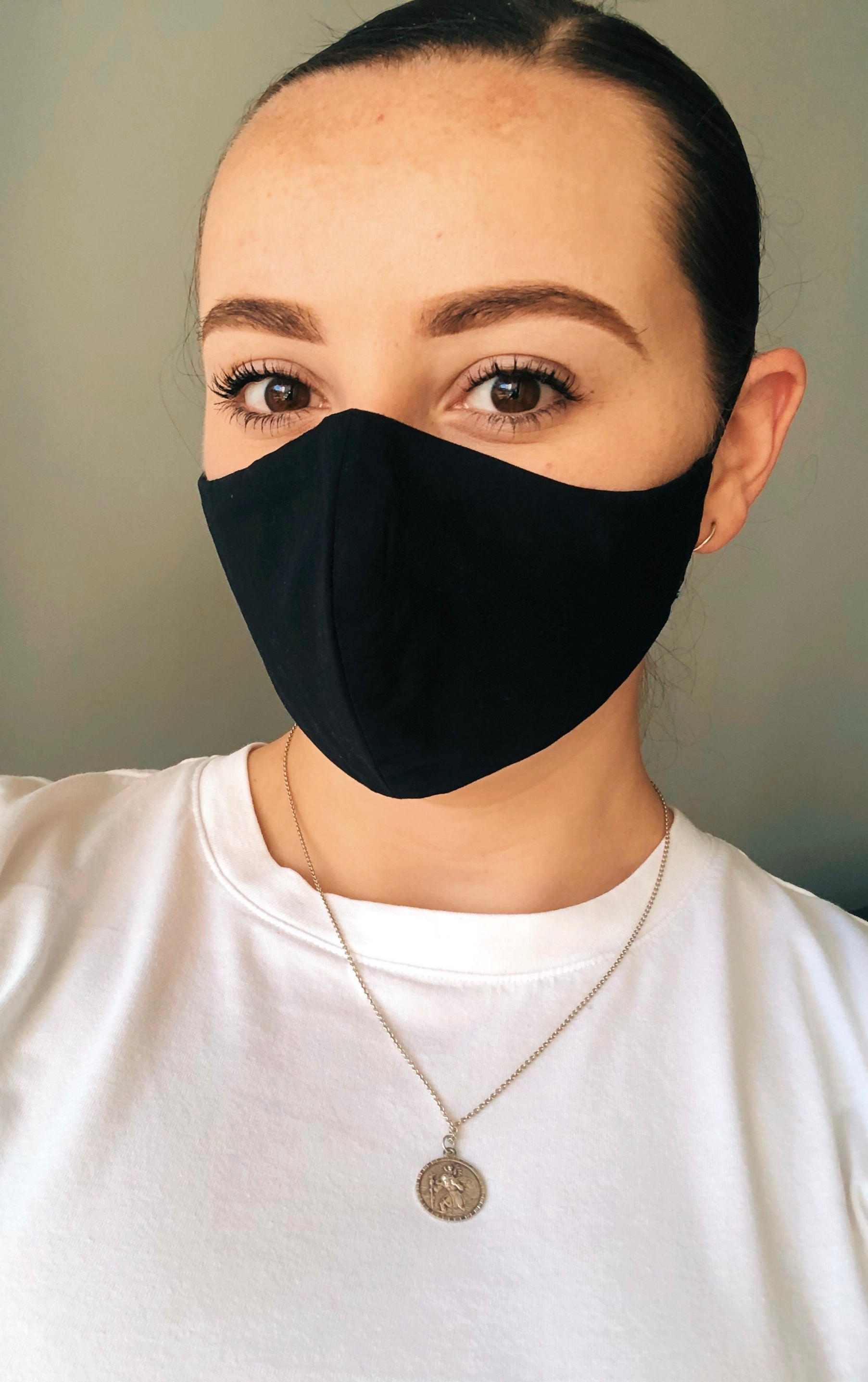 Black Handmade Unisex Cotton Facemask with FREE Disposable Filter