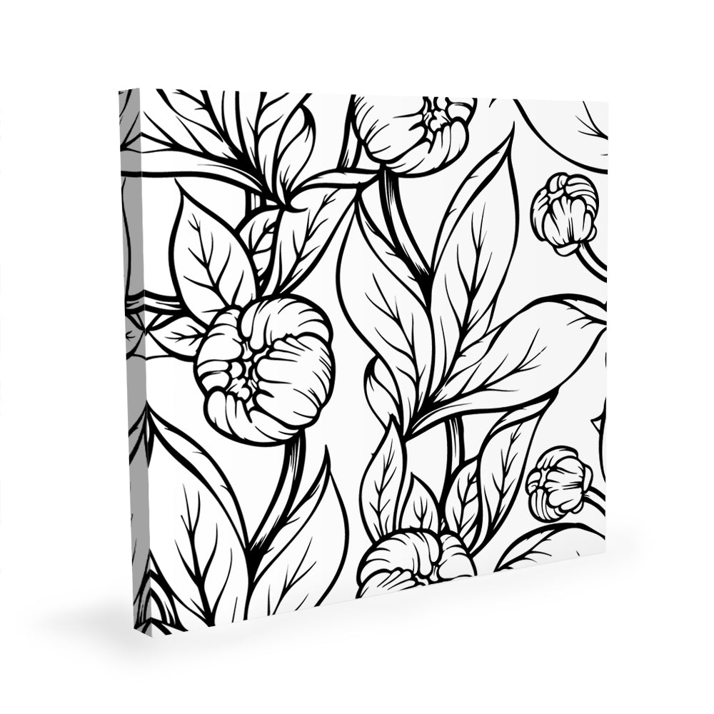 Coloring Canvas - Peonies I
