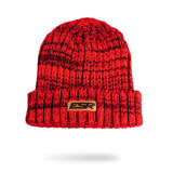Leather Box Beanie - Red