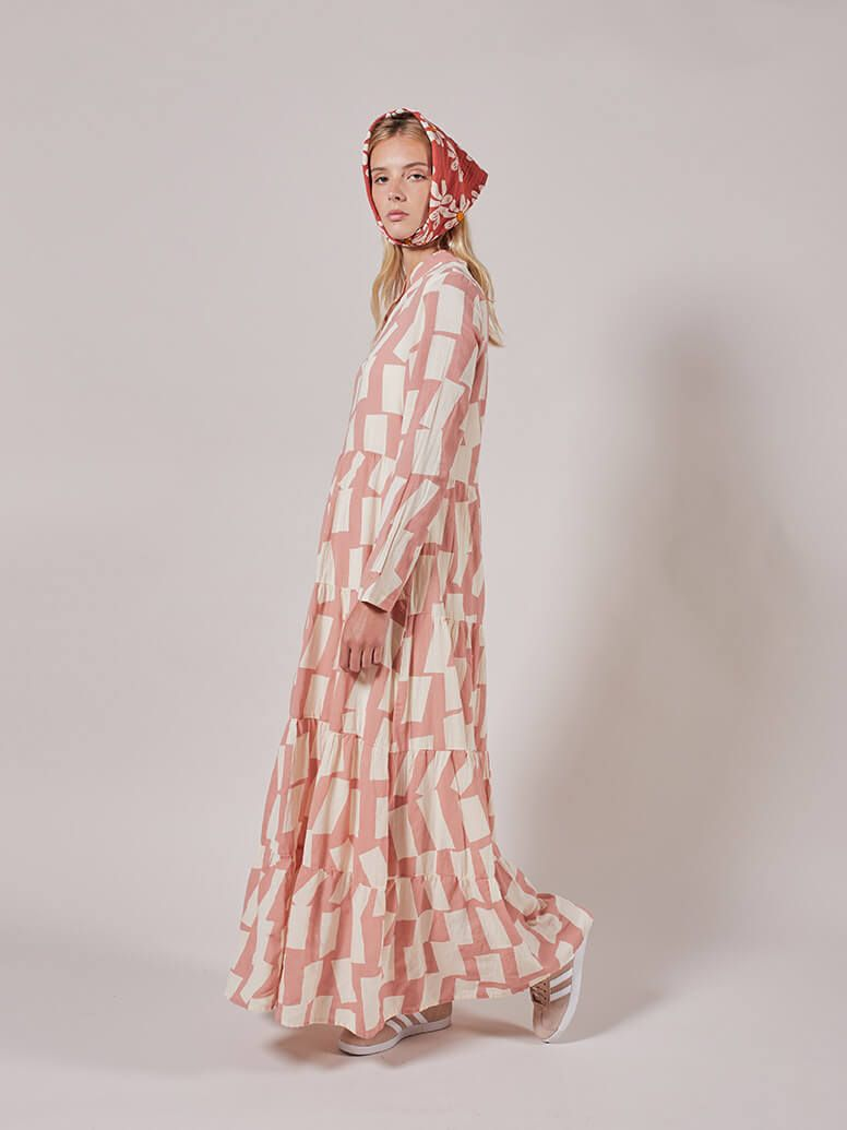 Bobo Choses  Long Shadow Printed Flared Dress / women