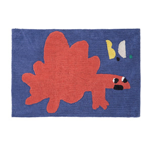 Bobo Choses  Cotton Tuffted Red Dino Rug