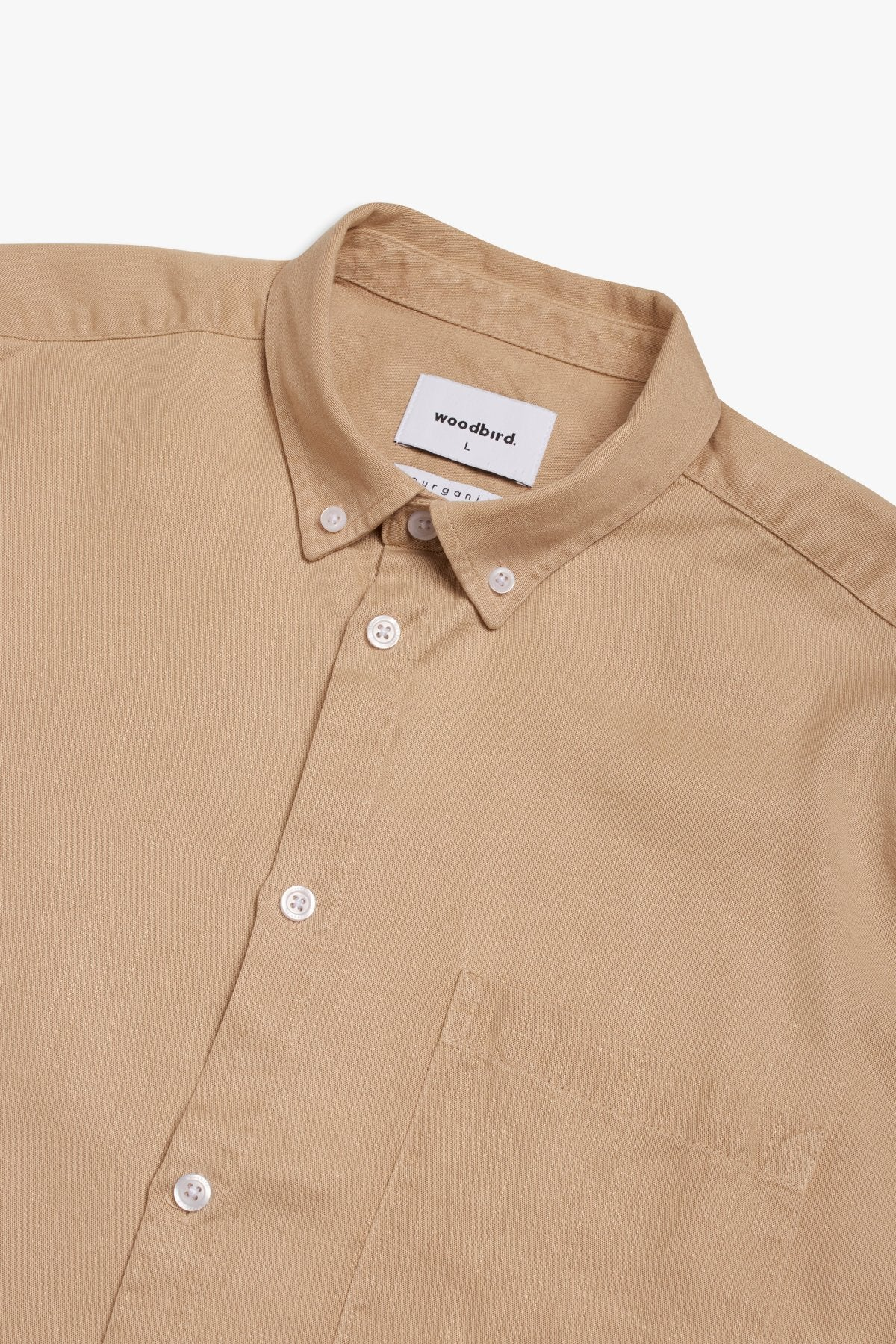 Woodbird  Sike Shirt Ecru / men