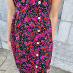 Afbeelding in Gallery-weergave laden, Mila bright purple / pink flowers dress