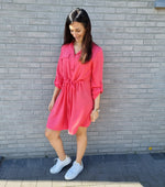 Afbeelding in Gallery-weergave laden, Sienna shirt dress - coral