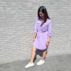Sienna shirt dress - lilac