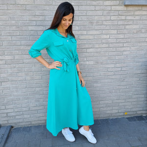 Sienna shirt maxi dress - green
