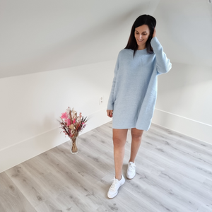 Sweater dress - baby blue