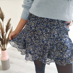 Afbeelding in Gallery-weergave laden, Blue printed skirt