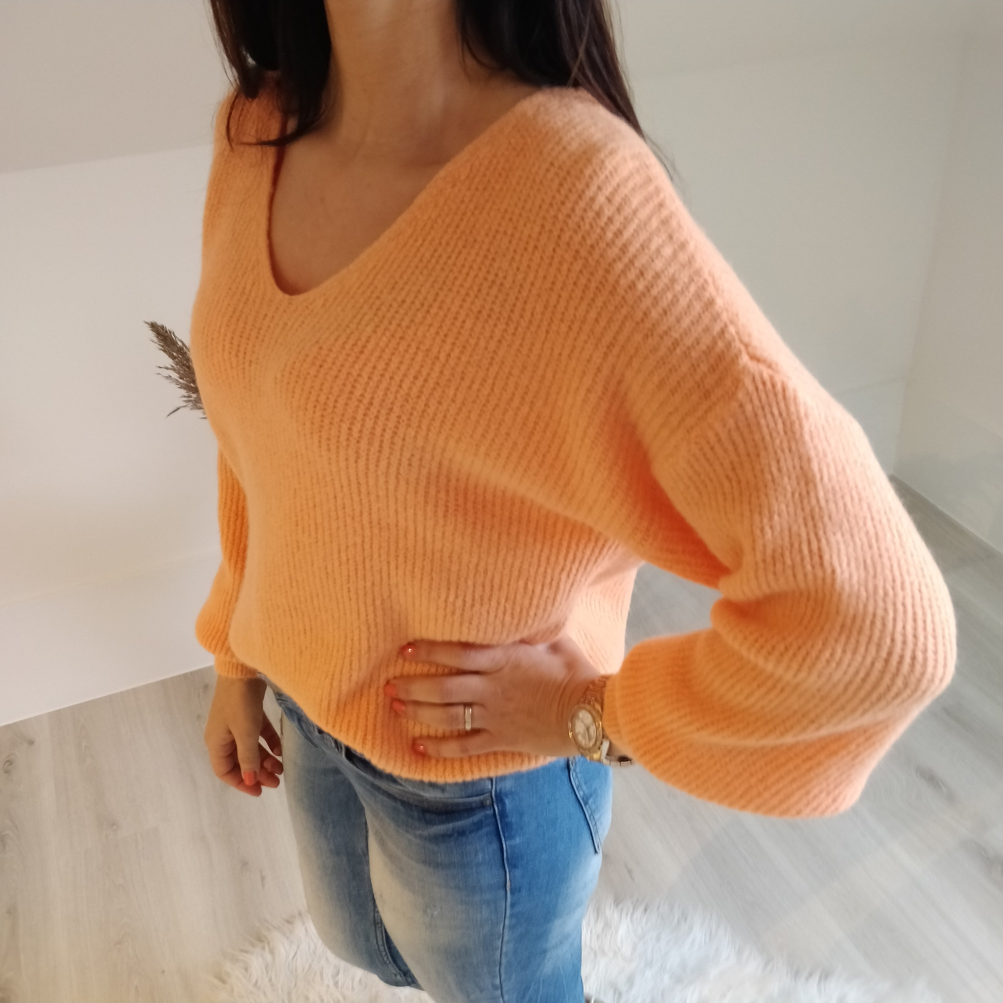 Basic sweater - orange