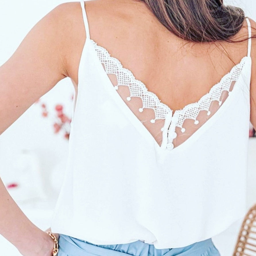 Emma white lace top