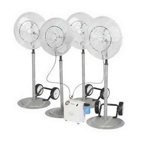misting fan system with oscillating misting fans - Misting Fans