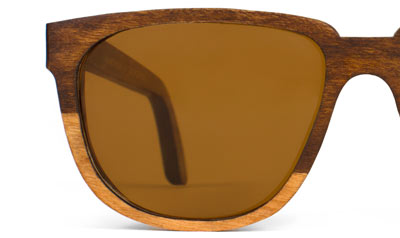 Bonnie Clyde Two Tone Wood Sunglasses Front View