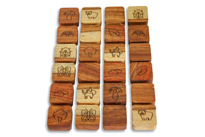 Wooden Memory Matching Tiles