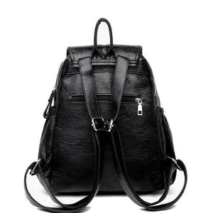 Backpack with rear zipper pocket