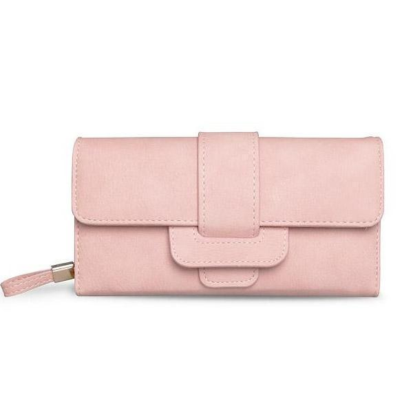 light pink leather wallet