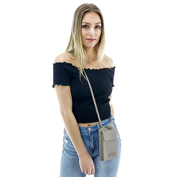 Crossbody phone purse for women, Black, Blue, Gray, Green, Pink, Red Wine