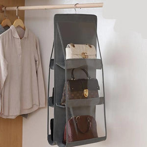 Hanging Handbag Organizer strong enough to hold your bags purse wallet