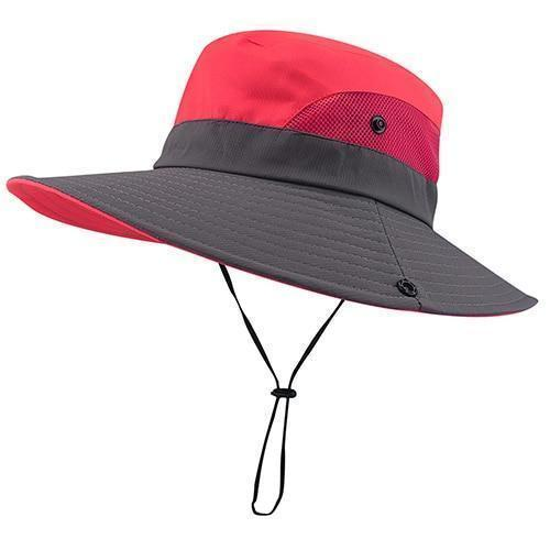 pink summer hat for women