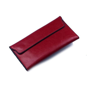Red women's wallet with removable card holder