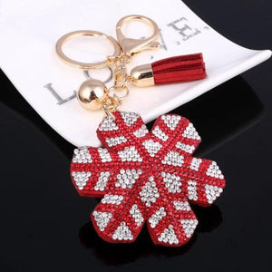 Red snowflake Keychain