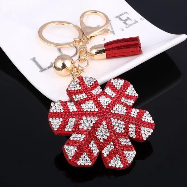 Gold Keychain with snowflake