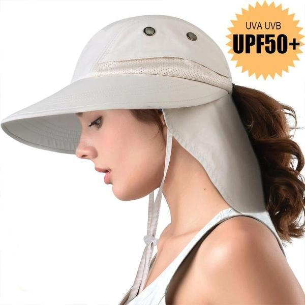Sun hats for women with neck flap