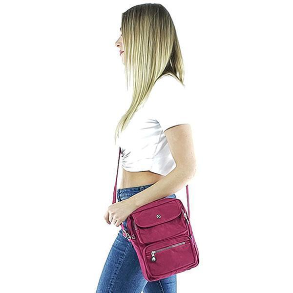 Women's crossbody travel bags multiple compartment, Black, Rose, Purple, Purple red, Grey blue, Apricot, Deep blue, Emerald, Khaki, Sea blue, Grey