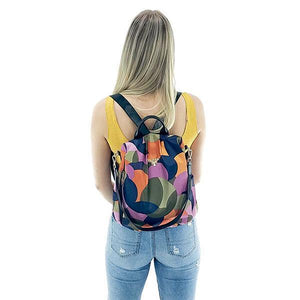 anti theft colorful backpack purse for women