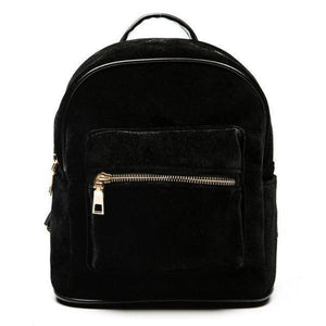 Black Small velvet backpack