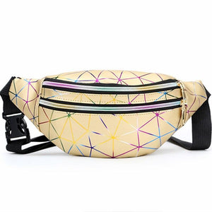 Cheap gold holographic fanny pack