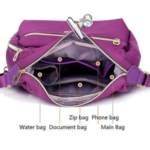 Multifunction nylon women bag