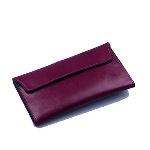 Purple women's wallet with removable card holder