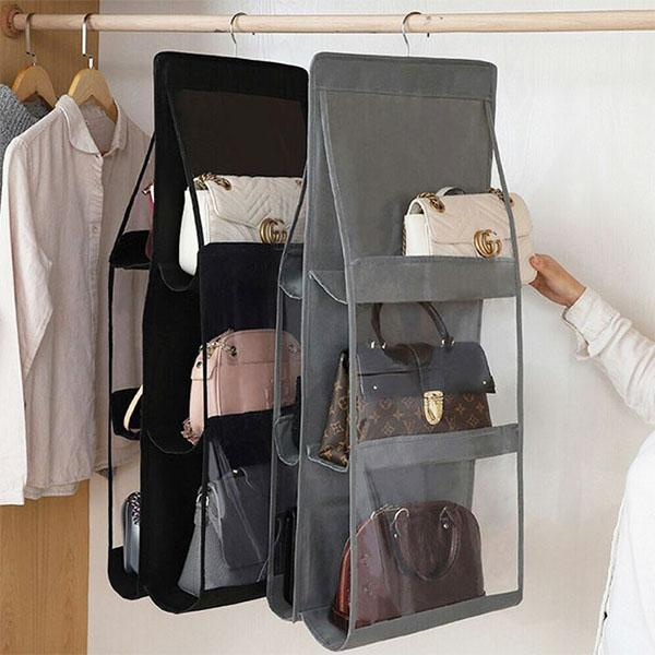 Hanging Handbag Organize with dimensions