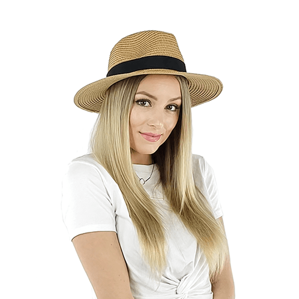 Panama hat womens adjustable, Blue, Khaki, White, beige, black