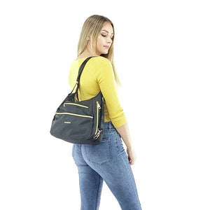 Convertible nylon crossbody backpack purse