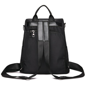 /anti theft black women backpack