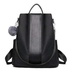 Black Anti-theft travel backpack for women