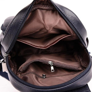 Roomy cute inetrior leather backpack