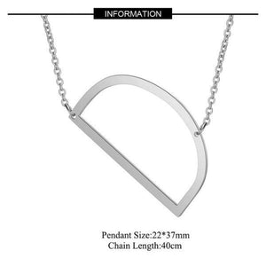 Silver Large Side D pendant initial Necklace