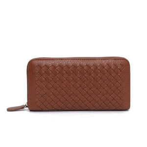 Brown leather wallets for women