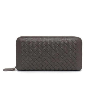 Drak gray leather wallets for women