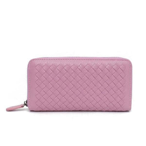 Hot pink leather wallets for women