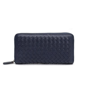 Navy leather wallets for women