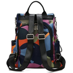 Antitheft backpack purse with many colors