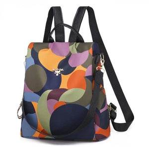 Colored anti theft backpack purse