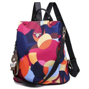 Colorful backpack for women